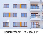 new apartment buildings blurred ... | Shutterstock . vector #752152144