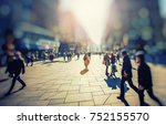 crowd of anonymous people... | Shutterstock . vector #752155570
