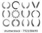 set laurel wreath | Shutterstock .eps vector #752158690