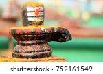 closeup of shiva linga statue a ... | Shutterstock . vector #752161549