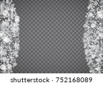 blizzard snowflake on... | Shutterstock .eps vector #752168089