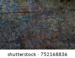 color grunge wall background.... | Shutterstock . vector #752168836