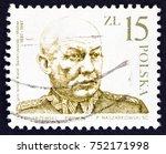 poland   circa 1987  a stamp... | Shutterstock . vector #752171998