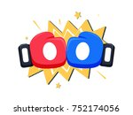 boxing gloves fight icon  red... | Shutterstock . vector #752174056