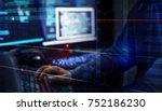 hacker data system hacking | Shutterstock . vector #752186230