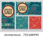 set of banners and seamless... | Shutterstock .eps vector #752188990