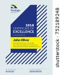 certificate template.... | Shutterstock .eps vector #752189248