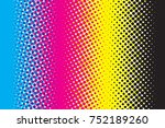 abstract cmyk color mode... | Shutterstock . vector #752189260