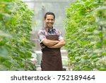 proud asian male farmer in the...   Shutterstock . vector #752189464