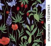 elegant botanical seamless... | Shutterstock .eps vector #752189614