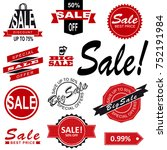 sale tags. sale banners set.... | Shutterstock . vector #752191984