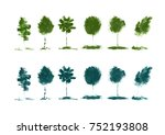 painting illustrations of trees ... | Shutterstock . vector #752193808