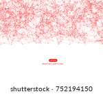 vector background with abstract ... | Shutterstock .eps vector #752194150