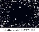 falling christmas snow on black.... | Shutterstock .eps vector #752195140