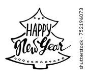 new year typography and design... | Shutterstock .eps vector #752196073