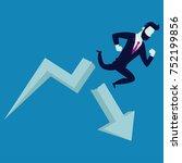 business fail. graph down  drop ... | Shutterstock .eps vector #752199856