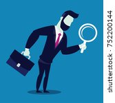 business man with magnifying... | Shutterstock .eps vector #752200144