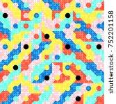 abstract 1980 memphis geometric ...   Shutterstock .eps vector #752201158