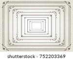 set of vintage frame with... | Shutterstock .eps vector #752203369