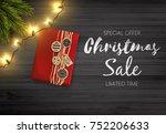 christmas sale design.... | Shutterstock .eps vector #752206633