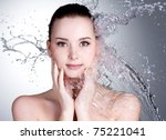 splashes of water on the... | Shutterstock . vector #75221041