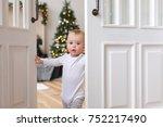 adorable infant standing in...   Shutterstock . vector #752217490