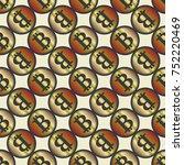 bitcoin electronic coins... | Shutterstock . vector #752220469