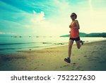 young fitness woman runner... | Shutterstock . vector #752227630