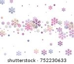 snowflake and circle elements... | Shutterstock .eps vector #752230633