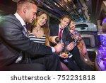friends enjoy a glass of... | Shutterstock . vector #752231818