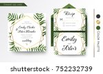wedding invitation  save the... | Shutterstock .eps vector #752232739