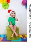 beautiful three year old boy in ... | Shutterstock . vector #752238496