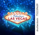 vector las vegas sign against... | Shutterstock .eps vector #752239639