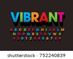 vector of bold colorful font... | Shutterstock .eps vector #752240839