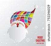 christmas   santa claus  | Shutterstock .eps vector #752246029