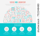 science and laboratory concept... | Shutterstock .eps vector #752248480