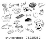 vector illustration of assorted ...   Shutterstock .eps vector #75225352