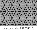 seamless pattern of weaved... | Shutterstock .eps vector #752253610