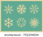 set of vintage vector icons... | Shutterstock .eps vector #752254024