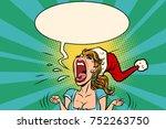 panic rage anger screaming... | Shutterstock .eps vector #752263750