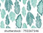 seamless background pattern... | Shutterstock .eps vector #752267146