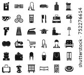 shop icons set. simple style of ... | Shutterstock .eps vector #752276614
