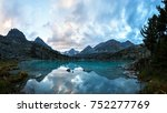 Darashkol lake in the Altai mauntains in evening time. - stock photo