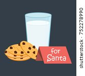 plate of cookies for santa and... | Shutterstock .eps vector #752278990