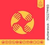 teamwork hands logo. human... | Shutterstock .eps vector #752279983