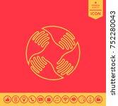 teamwork hands logo. human... | Shutterstock .eps vector #752280043