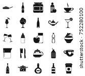 crockery icons set. simple set... | Shutterstock .eps vector #752280100