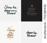 quote beer typography.... | Shutterstock .eps vector #752280430