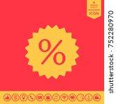 sign  percent symbol discount... | Shutterstock .eps vector #752280970