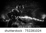 american football sportsman... | Shutterstock . vector #752281024